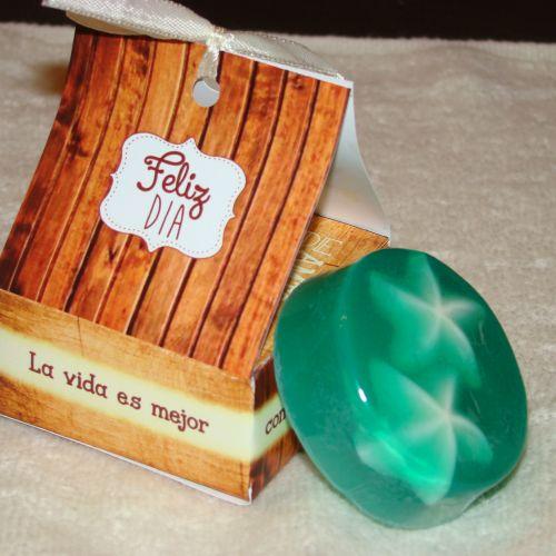 Jabon en caja simil madera