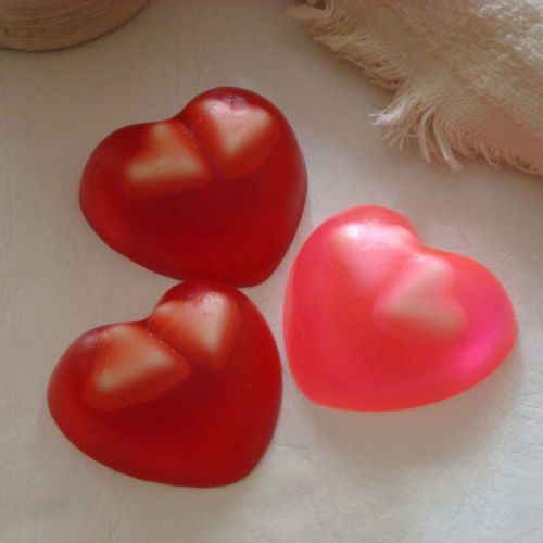 Jabon corazon con inclusiones